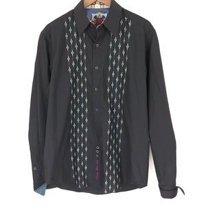 Robert Graham Brown Teal Men's Button Down Shirt M